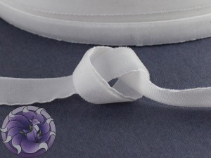 Лента бархатная 1см Белая