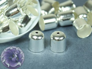 Концевик для шнуров, жгута и кистей 10х11мм цвет Серебро