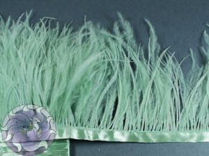 Лента из перьев страуса 8-10см цвет Светлый мох