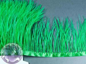 Лента из перьев страуса 8-10см цвет Зеленый