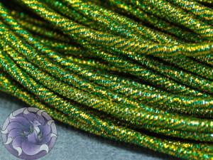 Канитель упругая 1.7мм микс Зеленый с золотом