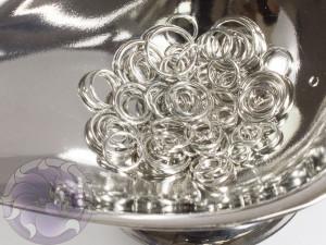 Соединительные колечки микс 4-10мм, цвет сталь, 3г упаковка