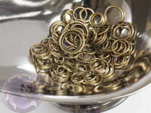 Соединительные колечки микс 4-10мм, цвет бронза, 3г упаковка