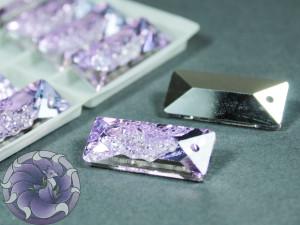 Кристалл подвеска Друза Прямоугольная 26 мм Цвет Vitrail Light