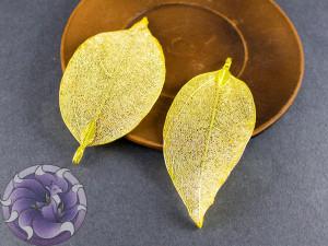 Подвеска для украшений Лист гальванизированный Цвет золото