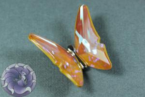 Кристалл бабочка 35мм Цвет Ultra AB Бежевый
