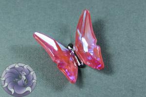 Кристалл бабочка 35мм Цвет Ultra AB Бордовый