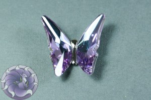 Кристалл бабочка 35мм Цвет Vitrail Light