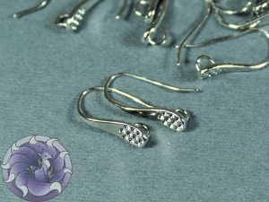 Швензы крючки фигурные каплевидные, Цвет Никель