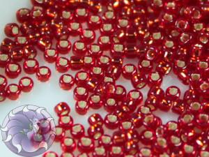 5г Бисер TOHO 15/0 Silver-Lined Ruby TR-15-25C
