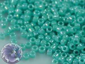 5г Бисер TOHO 15/0 Opaque-Rainbow Turquoise TR-15-413