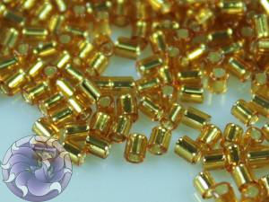TOHO Стеклярус 5г - Bugle #0 (2mm) : Silver-Lined Topaz TB-00-22C