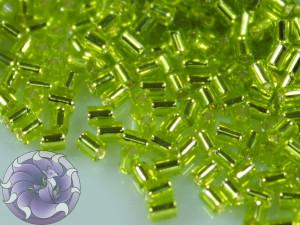 TOHO Стеклярус 5г - Bugle #0 (2mm) : Lime Green TB-00-24