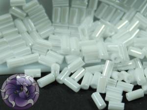 TOHO Стеклярус 5г - Bugle #1 (3mm) : Opaque-Lustered White TB-01-121