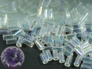 TOHO Стеклярус 5г - Bugle #1 (3mm) : Transparent-Rainbow Crystal TB-01-161