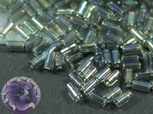 TOHO Стеклярус 5г - Bugle #1 (3mm) : Transparent-Rainbow Gray TB-01-176B