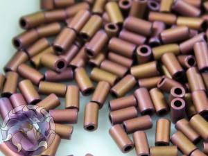TOHO Стеклярус 5г - Bugle #1 (3mm) : Matte-Color Mauve Mocha TB-01-703