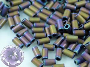 TOHO Стеклярус 5г - Bugle #1 (3mm) : Matte-Color Iris - Purple TB-01-615