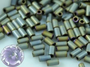 TOHO Стеклярус 5г - Bugle #1 (3mm) : Matte Color Iris - Gray TB-01-613