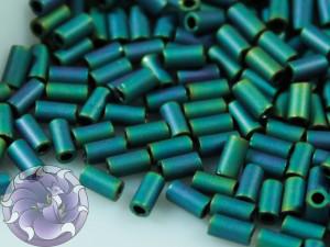 TOHO Стеклярус 5г - Bugle #1 (3mm) : Matte Color Iris Teal TB-01-706