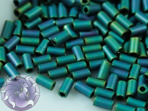 TOHO Стеклярус 5г - Bugle #1 (3mm) : Matte Color Iris Teal TB-01-706
