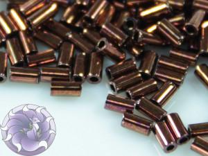 TOHO Стеклярус 5г - Bugle #1 (3mm) : Dk Bronze TB-01-222
