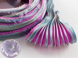 Шовкова стрічка шиборі (Shibori silk ribbon) L046