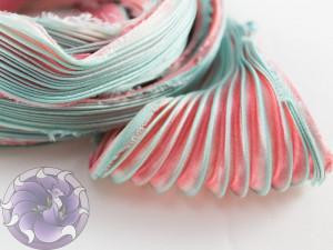 Шовкова стрічка шиборі (Shibori silk ribbon) L047