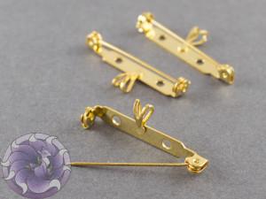 Основа для броши с подвеской безопасная 35 мм Цвет Золото, США