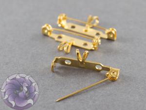 Основа для броши с подвеской безопасная 27 мм Цвет Золото
