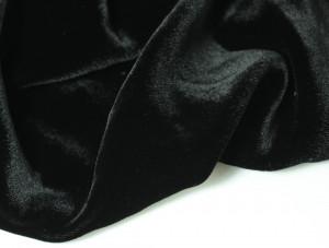 Шелковый бархат натуральный ручного окрашивания Цвет Черный