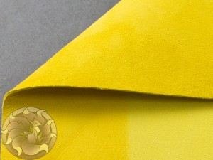 Кожа натуральная итальянская тонкая 0,6-0,8мм Велюр желтый
