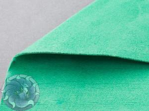 Кожа натуральная итальянская тонкая 0,6-0,8мм Велюр зеленый
