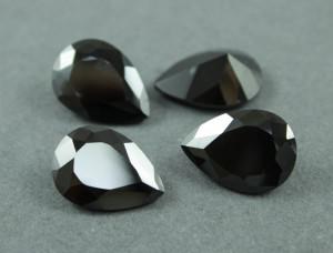 Кристалл фианит капля 13х18мм №22 Черный