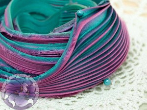 Шелковая Лента Шибори (Shibori silk ribbon)