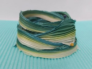 Шелковая Лента Шибори (Shibori silk ribbon) L248