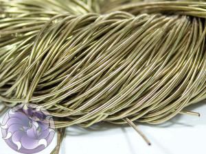 Канитель гладкая 1мм цвет Светлая бронза