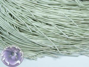 Канитель мягкая гладкая 1мм матовая цвет Белое серебро