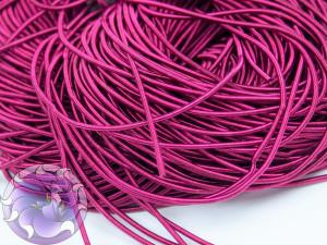 Канитель мягкая гладкая 1мм матовая цвет Ярко Розовая