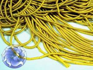 Канитель фигурная 1мм Желто золотая