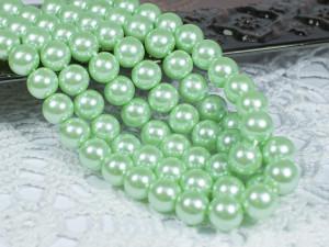 Жемчуг стеклянный 8мм 27шт цвет Весенняя зелень