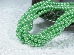 Жемчуг стеклянный 4мм 104шт цвет Зелёный