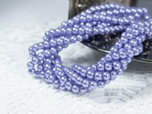 Жемчуг стеклянный 4мм 104шт цвет лилово синий