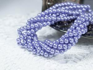 Жемчуг стеклянный 3мм 136-138шт цвет Лилово синий
