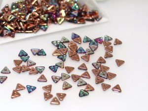 TRI-BEAD 4 MM CRYSTAL COPPER RAINBOW