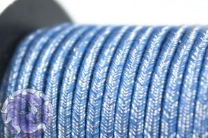 Сутажный шнур джинсовый Италия 3мм Железные горы