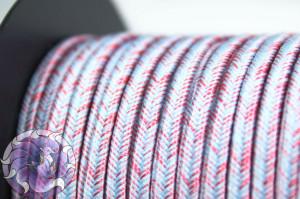 Сутажный шелковый шнур Омбре Италия 3мм Облака на закате