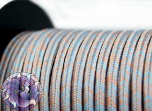 Сутажный шелковый шнур Омбре Италия 3мм Песок в океане