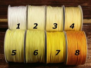 Сутажный шнур Европа глянцевый 3мм цвета №1-8