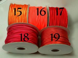 Сутажный шнур Европа глянцевый 3мм цвета №15-19
